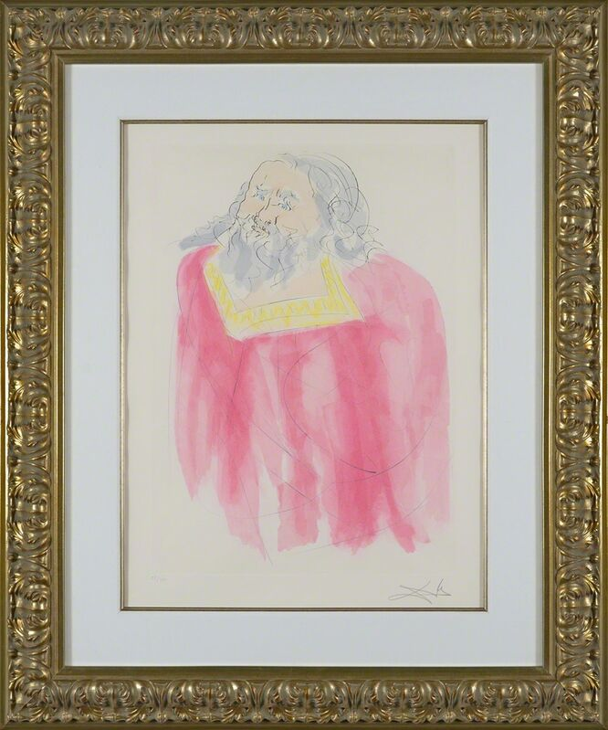 Salvador Dalí, 'Jeremiah (Our Historical Heritage, Plate K)', 1975, Print, Hand-signed engraving, Martin Lawrence Galleries