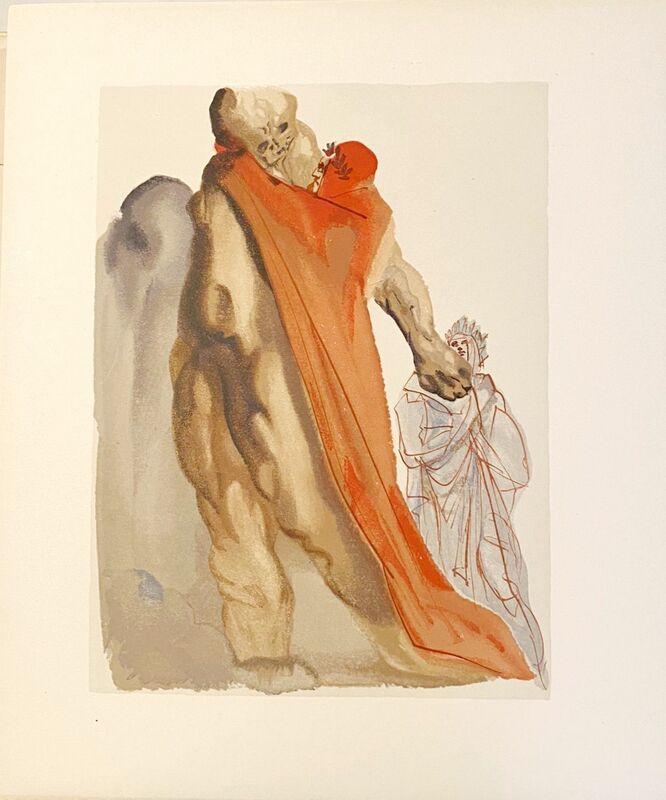 Salvador Dalí, 'La Divine Comédie - Purgatoire 05 - Reproches de Virgile', 1963, Print, Original wood engraving on BFK Rives paper, Samhart Gallery