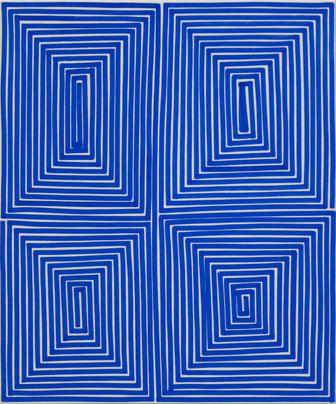 Bradley Harms, 'Blue Coffer (Geo)', 2014, Painting, Acrylic on Canvas, Newzones