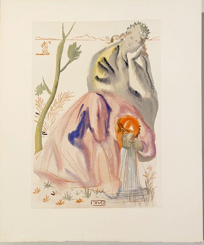 Salvador Dalí, 'La Divine Comédie - Purgatoire 21 - La source', 1963, Print, Original wood engraving on BFK Rives paper, Samhart Gallery
