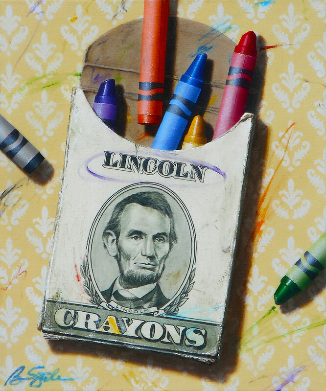 Ben Steele, 'The Colors of Money: Lincoln', 2020, Painting, Oil on Canvas, Arden Gallery Ltd.
