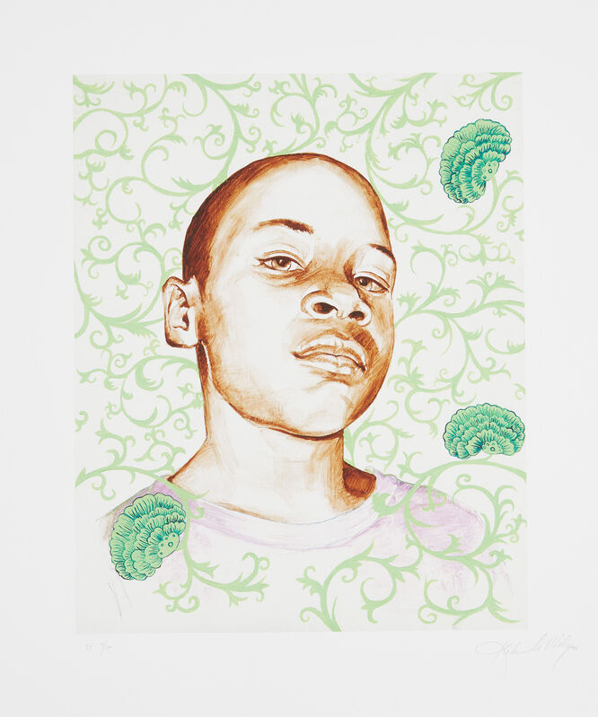 Kehinde Wiley, 'Kid Ike', 2006, Print, Pigment print in colors, on Somerset paper, with full margins., Phillips