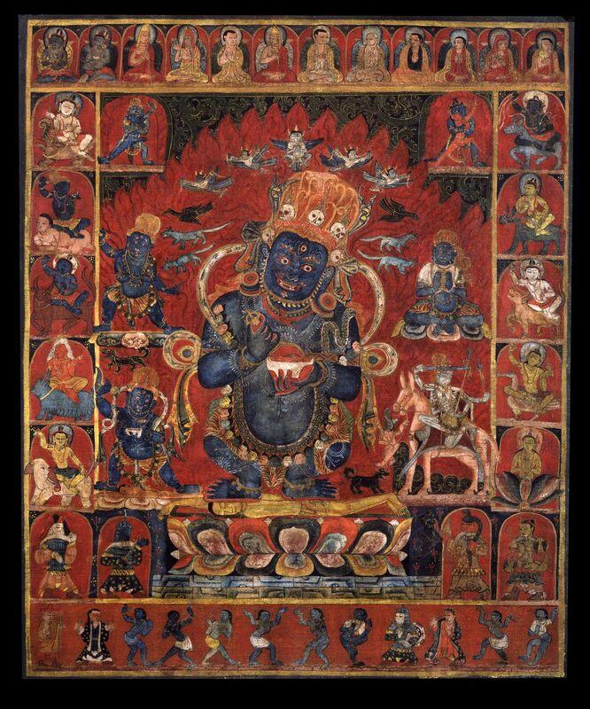 'Panjara Mahakala', 15th century, Painting, Pigments on cloth, Rubin Museum of Art