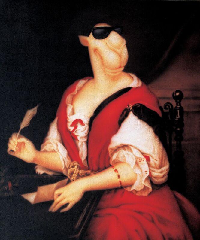Zhou Tiehai, 'Portrait of Madame de Sevigne Writing', 2008, Painting, Acrylic on canvas, ShanghART