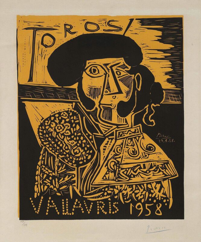 Pablo Picasso, 'Toros Vallauris', 1958, Print, Linocut printed in black and orange on Arches wove paper, Christie's