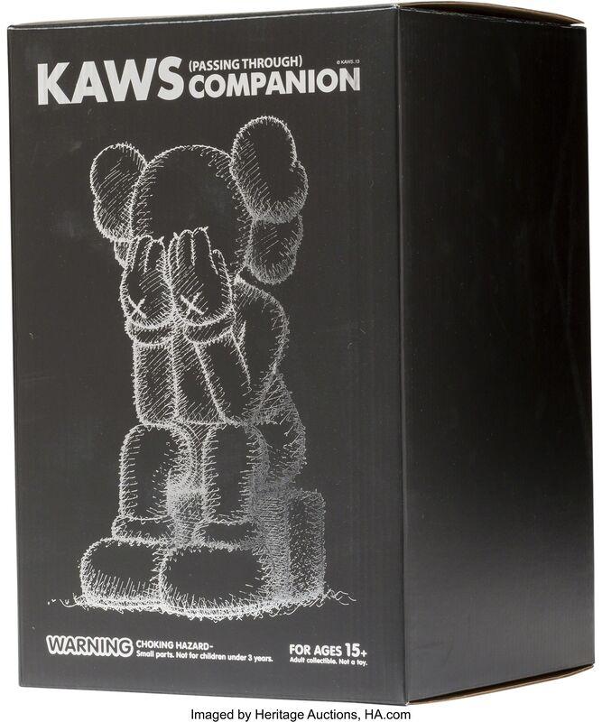 KAWS, 'Passing Through Companion (Black)', 2013, Sculpture, Painted cast vinyl, Heritage Auctions