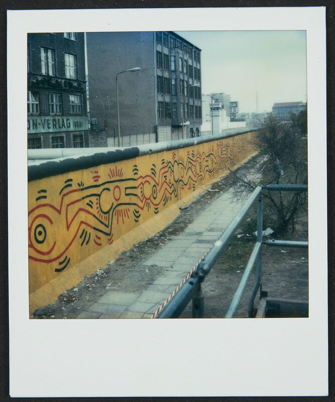Keith Haring, 'Berlin Wall Mural at Checkpoint Charlie', 1986, Photography, Polaroid, Cantor Fitzgerald Gallery, Haverford College