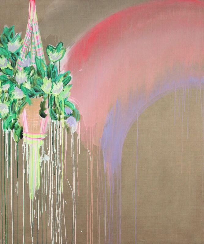 Erin Rachel Hudak, 'You brought rainbows into my garden', 2019, Painting, Acrylic on linen, Ochi Projects