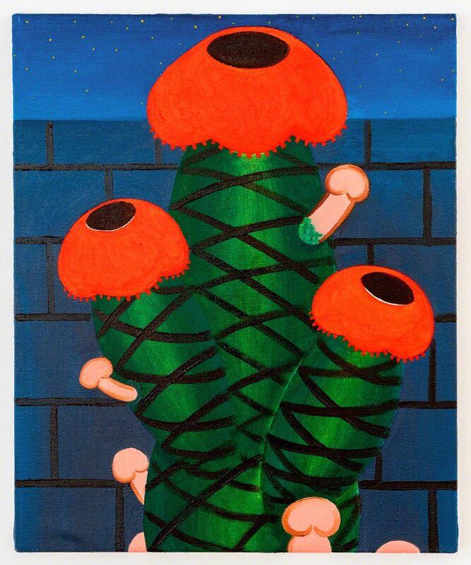 André Ethier, 'Untitled (Cactus)', 2017, Painting, Oil on canvas, Projet Pangée