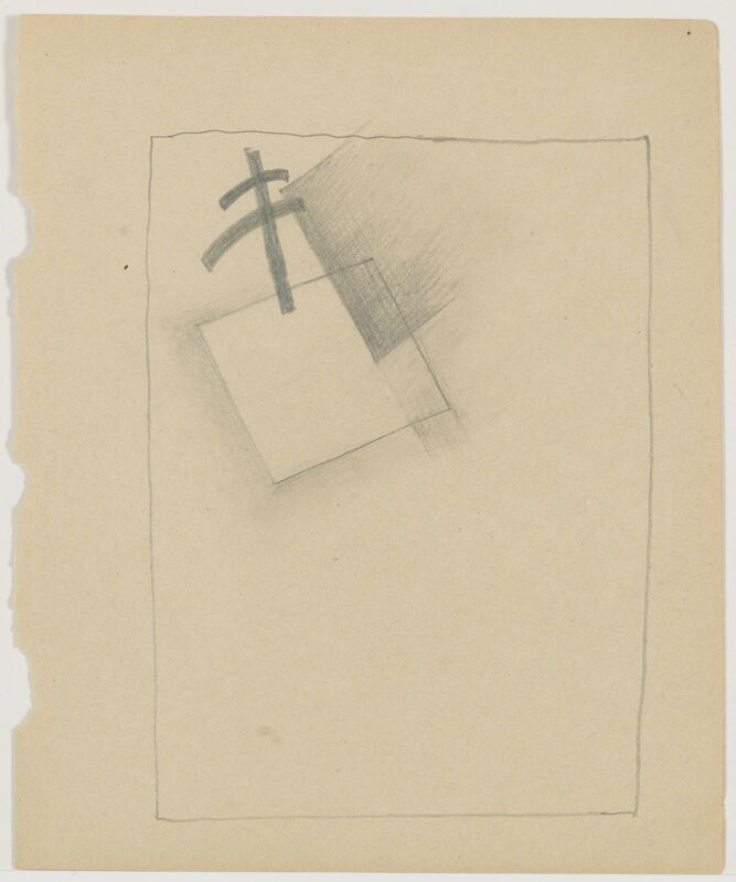 Kasimir Severinovich Malevich, 'White Square and plan for dissolution', 1918, Drawing, Collage or other Work on Paper, Pencil on paper, Annely Juda Fine Art