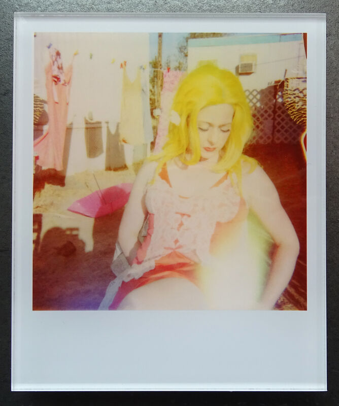 Stefanie Schneider, ''Available'  (Oxana's 30th Birthday)', 2008, Photography, Lambda digital Color Photographs based on a Polaroid, sandwiched in between Plexiglass, Instantdreams