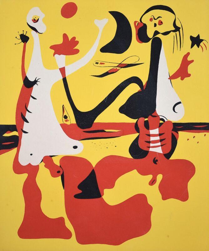 Joan Miró, 'Personages devant la mere for D'Aci I D'Alla', 1934, Other, Pochoir, Grob Gallery