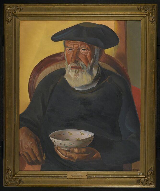 Boris Dimitrievich Grigoriev, 'Old Trombola', 1924, Painting, Oil on canvas, Brooklyn Museum
