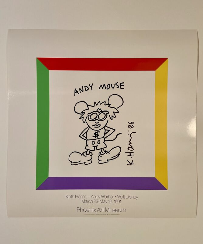 Andy Warhol, 'Keith Haring, Andy Warhol, Walt Disney Museum Poster', 1991, Ephemera or Merchandise, High Quality Museum Exhibition Poster, David Lawrence Gallery