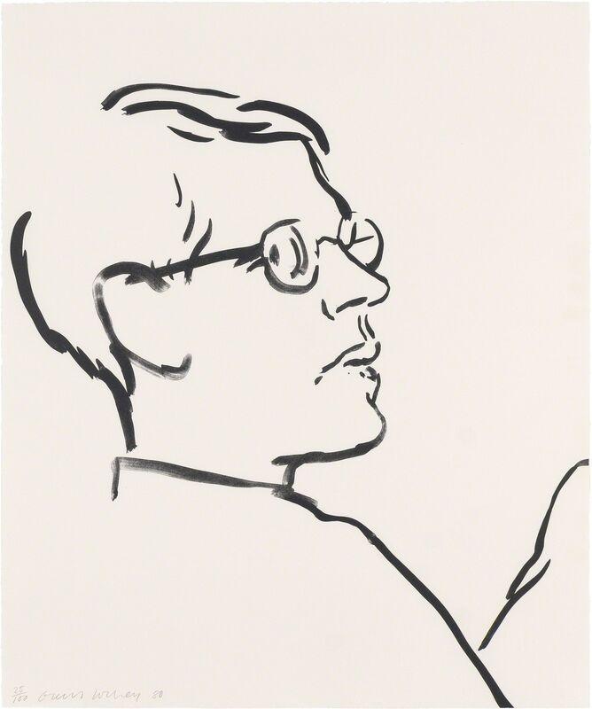 David Hockney, 'James', 1980, Print, Lithograph on Arches Cover paper, Puccio Fine Art