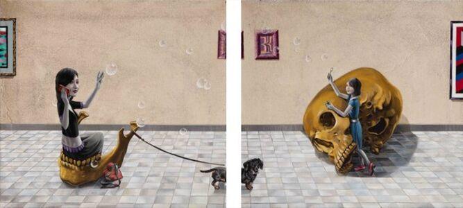 Gino Rubert, 'Díptico calavera', 2019