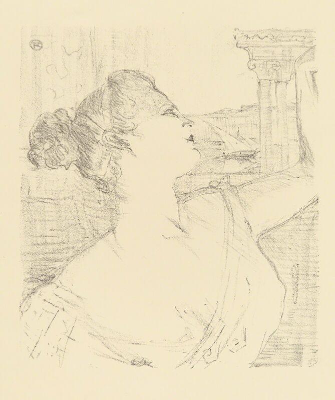 Henri de Toulouse-Lautrec, 'SYBIL SANDERSON', 1898, Print, Original lithograph printed in black ink on beige wove paper., Christopher-Clark Fine Art