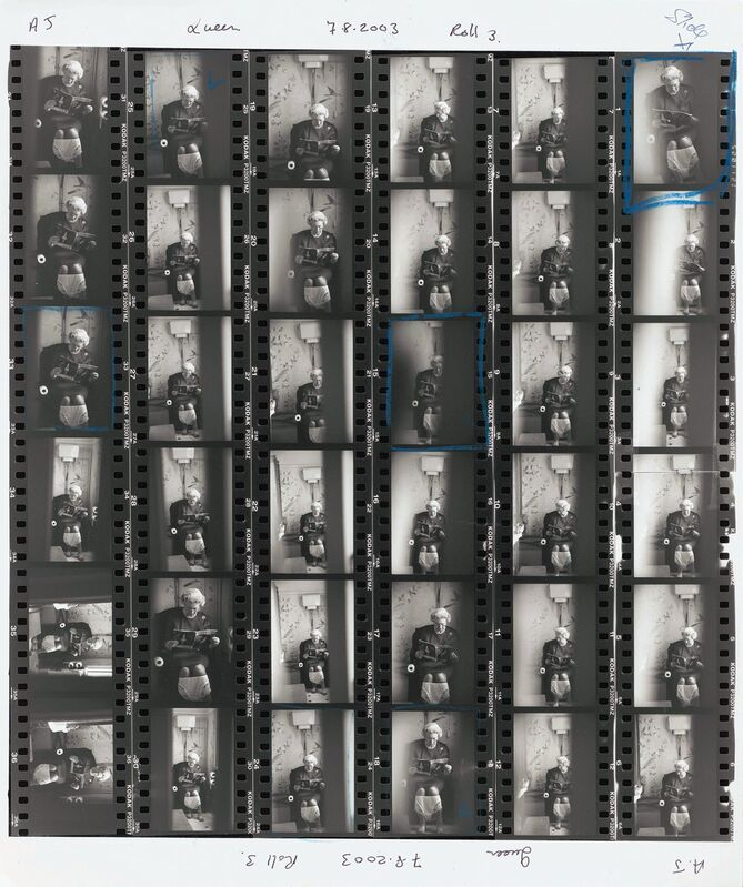 Alison Jackson, 'Queen on the Loo Contact Sheet', 2003, Photography, C-type print, Cavalier Ebanks Galleries