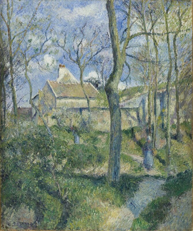 Camille Pissarro, 'The Path to Les Pouilleux, Pontoise', 1881, Painting, Oil on canvas, Los Angeles County Museum of Art
