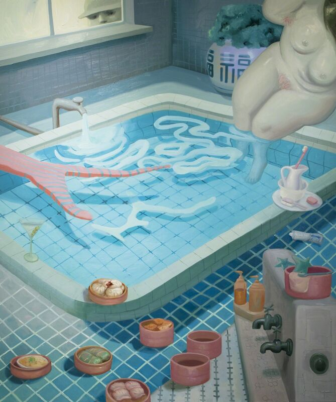 Dominique Fung, 'Jade Dragon Bathhouse and Spa', 2017, Painting, Oil on canvas, Ross+Kramer Gallery