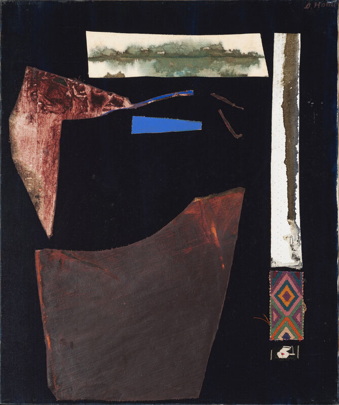 Dorothy Hood, 'Shards of the Earth', ca. 1980s, Painting, Oil on canvas with collage elements, McClain Gallery