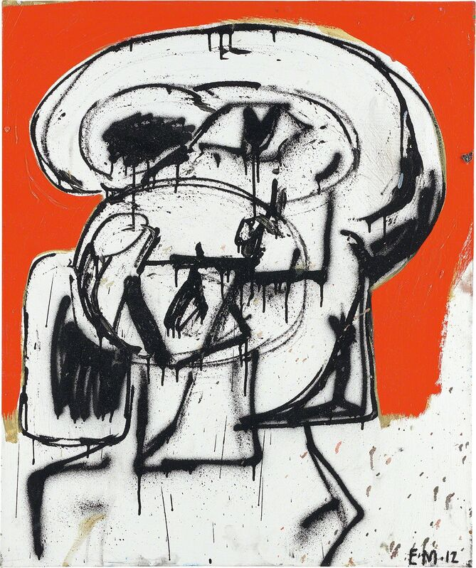 Eddie Martinez, 'Untitled', 2012, Painting, Oil, enamel and spray paint on canvas, Phillips