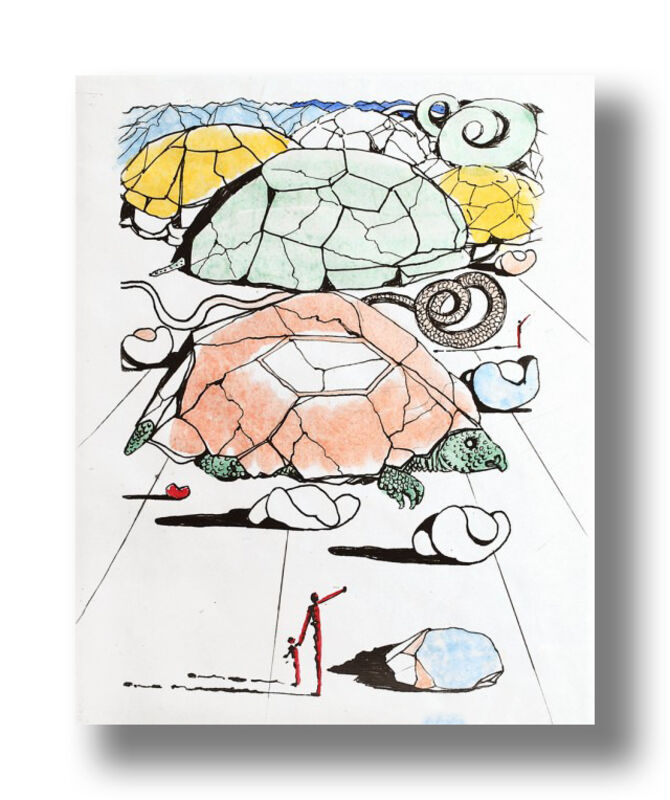Salvador Dalí, 'The Turtle Mountains', 1967, Print, Drypoint on Paper, Animazing Gallery