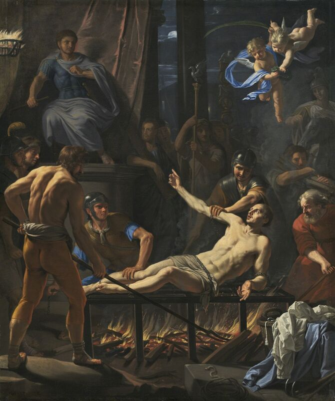 Jean-Baptiste de Champaigne, 'The Martyrdom of Saint Lawrence', ca. 1660, Painting, Oil on canvas, National Gallery of Art, Washington, D.C.