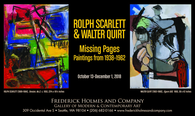 ROLPH SCARLETT & WALTER QUIRT: MISSING PAGES, Paintings From 1938-1962, installation view