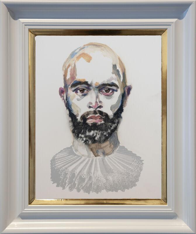 Dee Smart, 'Bala Luke', 2019, Painting, Oil on board, water gilded frame, Nanda\Hobbs