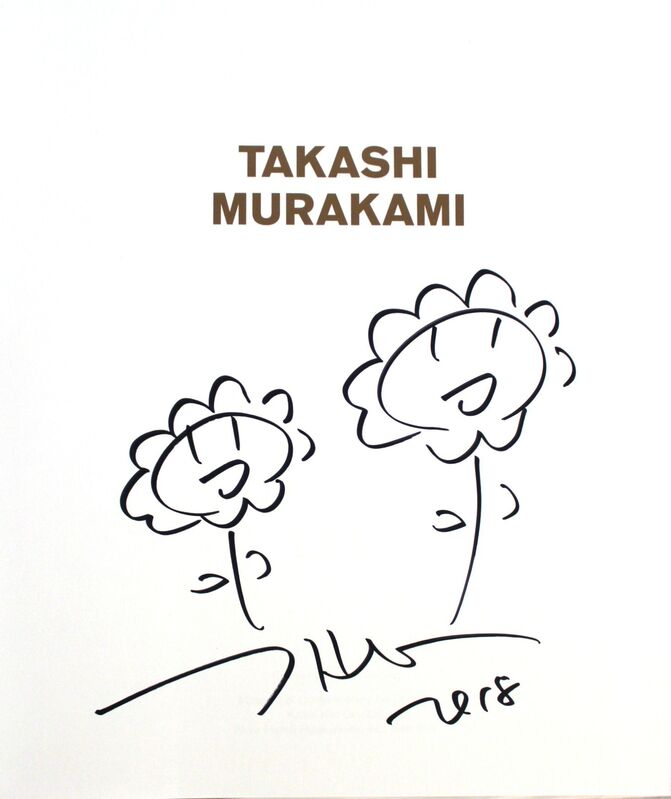 Takashi Murakami, 'Double Flowers drawing', 2018, Drawing, Collage or other Work on Paper, Marker on paper, EHC Fine Art