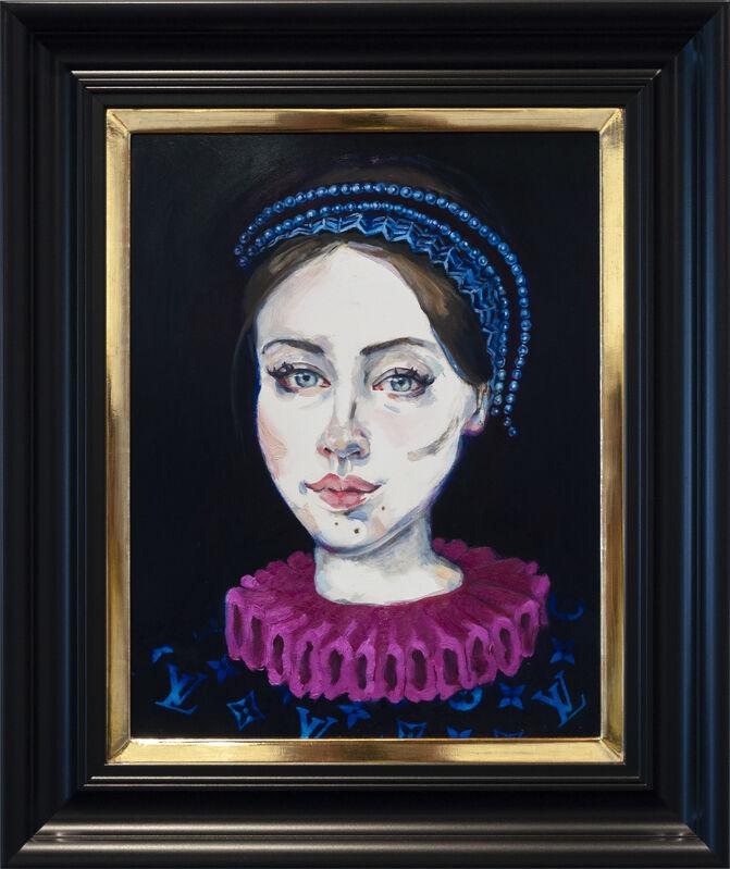 Dee Smart, 'Charlie', 2019, Painting, Oil on board, water gilded frame, Nanda\Hobbs