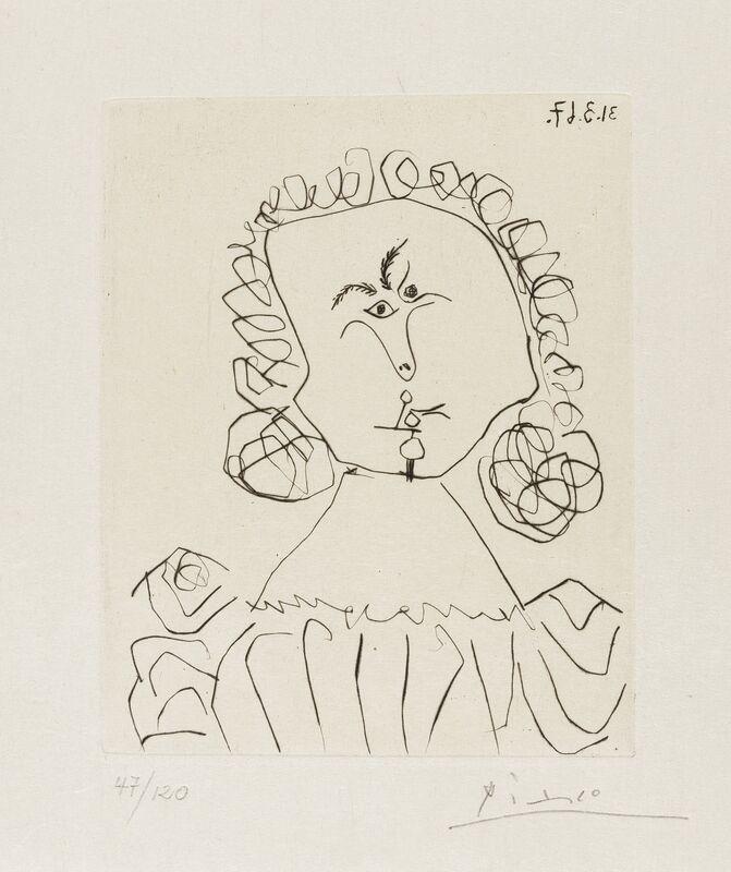 Pablo Picasso, 'Doble Ensayo Sobre Picasso (Cramer 142)', 1967, Print, Drypoint, Forum Auctions