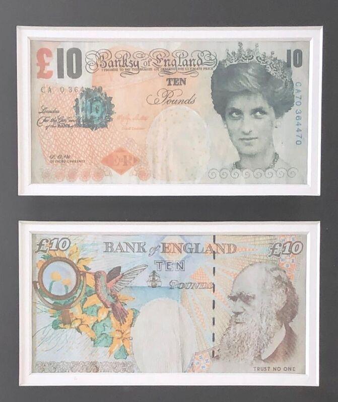 Banksy, 'Dicafed tanner 10£ ', 2004, Print, Offset lithographie sur papier, Krystel Ann Art