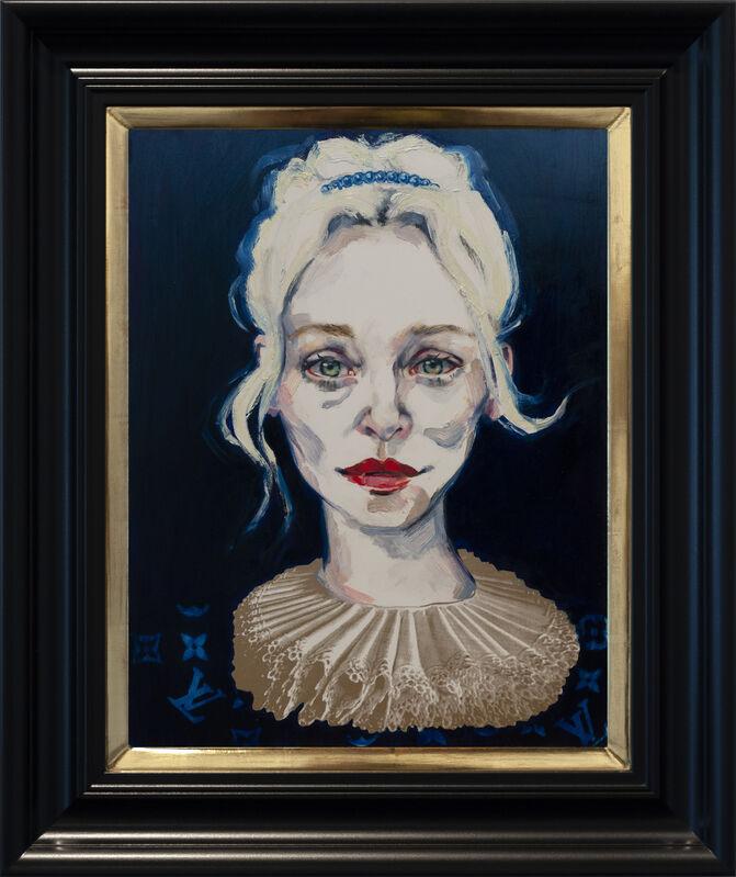 Dee Smart, 'Susie in Gold', 2019, Painting, Oil on board, water gilded frame, Nanda\Hobbs