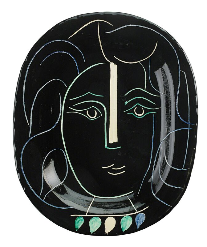 Pablo Picasso, 'Woman's Face charger (Visage de Femme), edition of 400, France', des. 1953, Design/Decorative Art, Glazed and incised earthenware, Rago/Wright