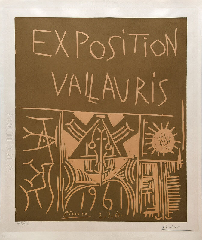 Pablo Picasso, 'Exposition Vallauris 1961', 1961, Print, Linocut in two colours on Arches paper, Peter Harrington Gallery