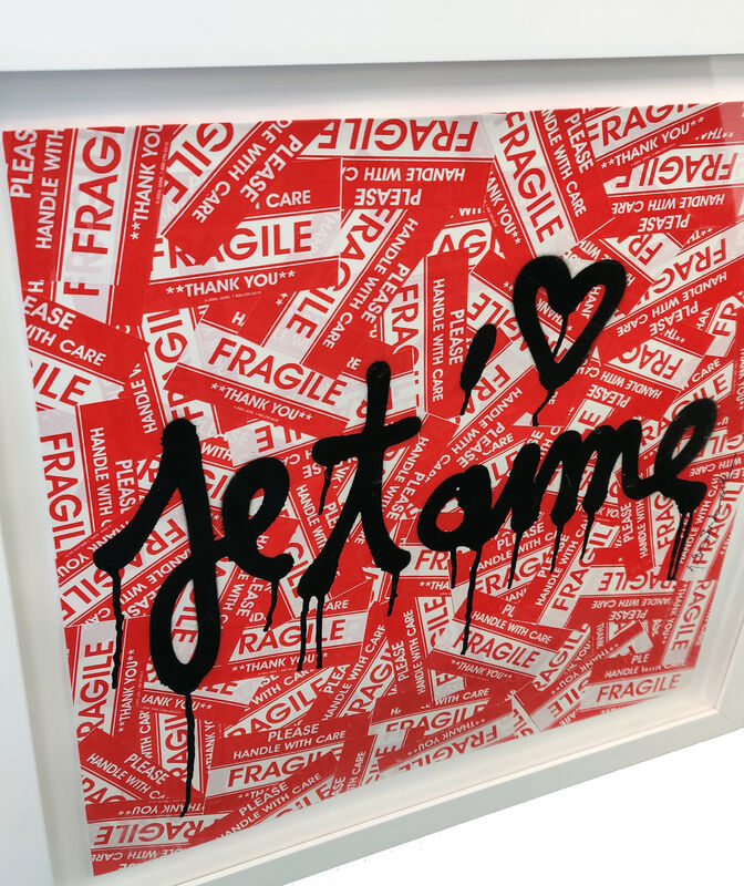 Mr. Brainwash, 'JE T'AIME', 2013, Painting, MIXED MEDIA ON PAPER, Gallery Art