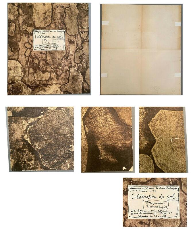 """Jean Dubuffet, '""""Célébration du Sol"""", 1959, Exhibition Invite/Mailer/POSTER, Daniel Cordier Gallery Paris', 1959, Print, Lithograph on paper, VINCE fine arts/ephemera"""