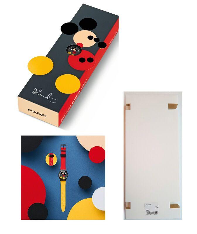 "Damien Hirst, 'SWATCH, ""Spot Mickey"", 2018, Edition of 1999,, Size: 34mm', 2018, Mixed Media, Plastic, VINCE fine arts/ephemera"