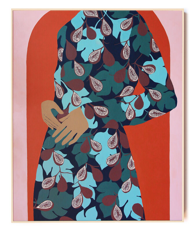 Carmen McNall, 'Figs ', 2021, Painting, Acrylic on hand carved wood panel., Uprise Art