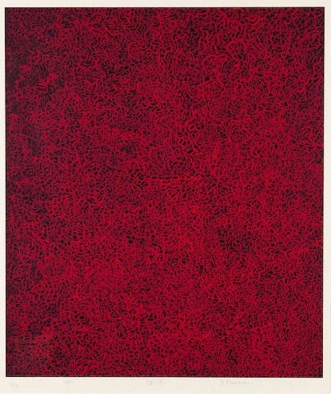 Yayoi Kusama, 'Rain in the Evening Glow', 1992, Print, Silkscreen, Lougher Contemporary