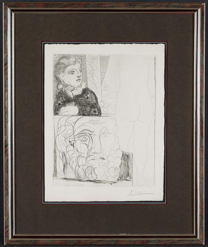 Pablo Picasso, 'La bonne dans l'atelier de sculpture', 1933, Print, Etching on laid paper, Van Ham