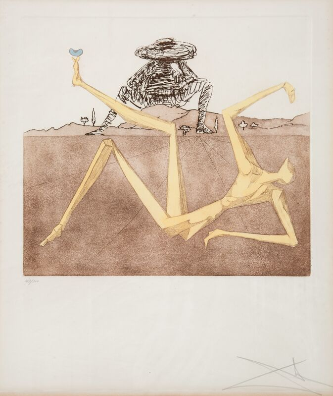 Salvador Dalí, 'The Heart of Madness, from Historia de Don Quichotte de la Mancha', 1980, Print, Etching and aquatint in colors on Arches paper, Heritage Auctions