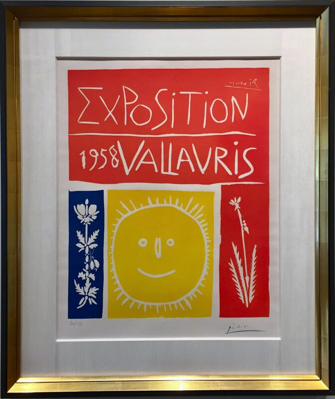 Pablo Picasso, 'Exposition De Vallauris (B.1284; BA.1050) ', 1958, Print, Linocut on Arches paper., Off The Wall Gallery