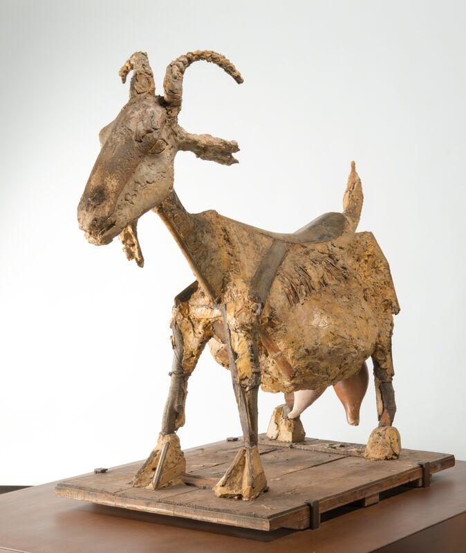 Pablo Picasso, 'La Chèvre (The Goat)', 1950, Sculpture, Wicker-basket, ceramic pots, palm leaf, metal, wood, cardboard, and plaster, Musée Picasso Paris