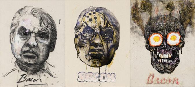 Robbie Conal, 'Francis Bacon (triptych)', 2012
