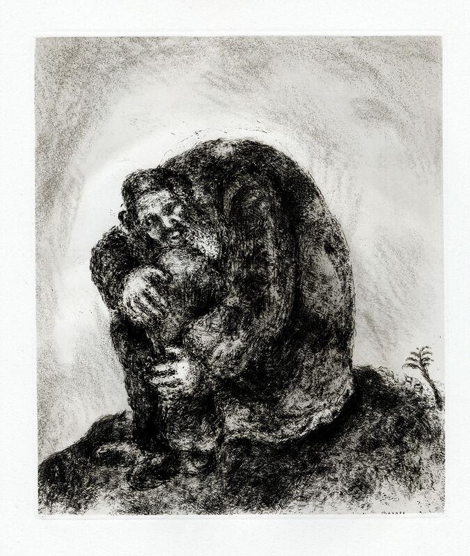 Marc Chagall, 'Élie sur le Mont Carmel (Elijah on Mount Carmel)', 1956, Print, Etching, Goldmark Gallery