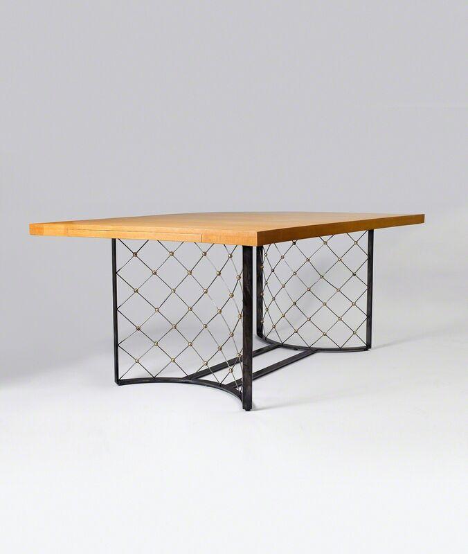 "Jean Royère, '""Tour eiffel"" dining table', 1963, Design/Decorative Art, Ash, iron and brass, Galerie Jacques Lacoste"