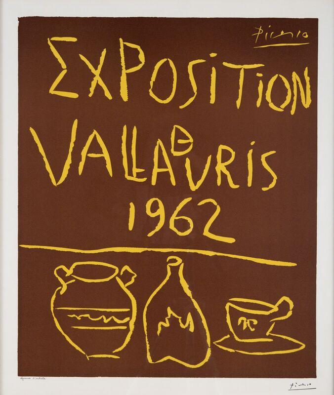Pablo Picasso, 'Exposition de Vallauris 1962', 1962, Print, Linoleum cut, Odon Wagner Gallery